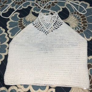 Knit halter top